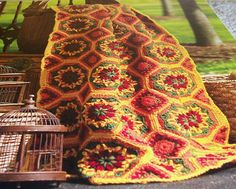 Spanish Tiles pattern by Tammy Hildebrand. Pattern - 50 Sensational Crochet Afghans and Throws. The Needlecraft shop