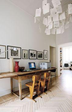Home Interior Design .Home Interior Design Home Office Design, Modern House Design, Ingo Maurer, Design Apartment, Desk Areas, Desk Space, World Of Interiors, Deco Design, Design Design