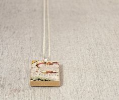 America Vintage Style Map Scrabble Tile Pendant Necklace by WiReDBoutique on Etsy Beginning at $9