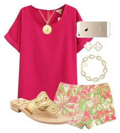 """Pink Prep"" by chevron-elephants ❤ liked on Polyvore"