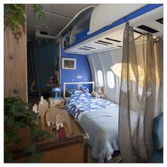 Our First Guests Have Arrived! Planes, Interiors, Bed, Room, Furniture, Home Decor, Airplanes, Bedroom, Stream Bed