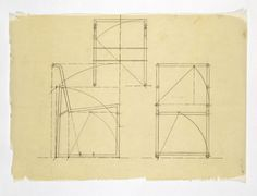 Design for a metal framed chair | eileen gray | V&A Search the Collections, 1930s