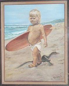 Amazing. Bad Art, Naive Art, Outsider Art, Surfing, Amazing, Baby, Painting, Painting Art, Surf