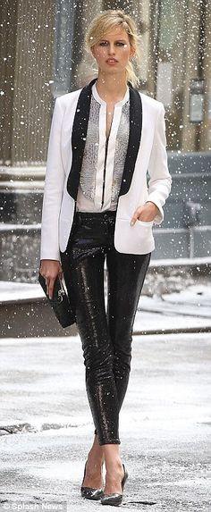 tuxedo blazer /sequence pants