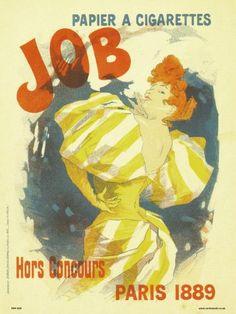 Art nouveau Poster Art Print by Jules Cheret - JOB Papier a cigarettes 1889 (PDP 005)