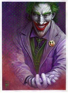 Joker by Eddy Newell Im Batman, Batman Comics, Dc Comics, Superman, Heath Ledger, Nightwing, Batgirl, Comic Books Art, Comic Art