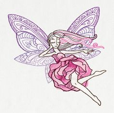 Delicate Fairy | Urban Threads: Unique and Awesome Embroidery Designs