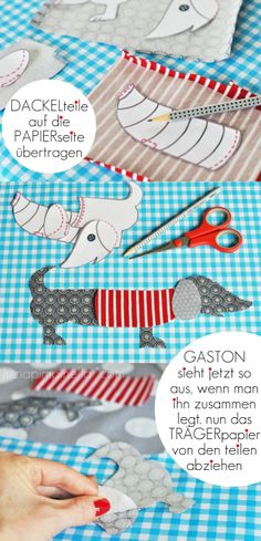 DIY Fabric Dachshund! (you'll need google translator for this one!) #dachshund #diy #dogs