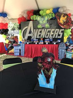 Zion's Avengers 3rd bday party  | CatchMyParty.com