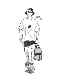 SUGA Airport Fashion.A4arts | Copycat Bambi 3, Bts Fans, Bts Suga, Fan Art, Shit Happens, Memes, Airport Fashion, Copycat, Chibi