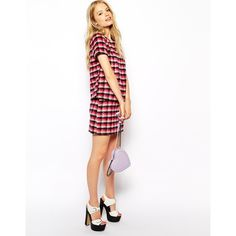 Fashion Union Mini Skirt In Brushed Check ($10) ❤ liked on Polyvore