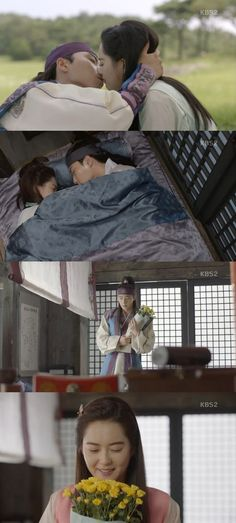 Seon-woo (Park Seo-joon) and Aro (Ko Ah-ra) started their romance on the latest episode of the KBS 2TV drama 'Hwarang'. Aro was shocked to see Seon-woo who fell off his horse and confessed her deepest feelings for him. Seon-woo heard everything and kissed her.