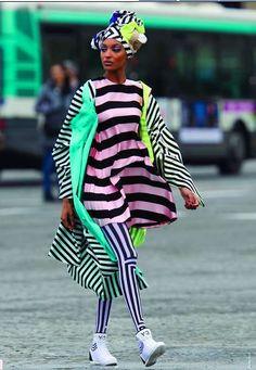Neon-Printed Postmodern Fashion : postmodern style