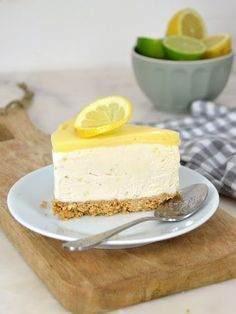 Tarta helada de leche condensada y limón