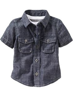 Old Navy | Chambray Double-Pocket Shirts for Baby