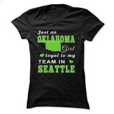 Oklahoma girl loyal to team in Seattle - #cool tee #tshirt moda. ORDER HERE => https://www.sunfrog.com/Faith/Oklahoma-girl-loyal-to-team-in-Black-Ladies.html?68278