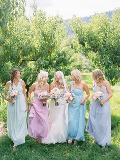 #Bridesmaids | Ryan Ray Photography | See more on #SMP Weddings - http://www.stylemepretty.com/2013/12/05/orchard-wedding-from-ryan-ray-photography/