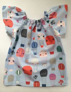 littlefour hot air balloon baby peasant by littlefourclothing, $34.00