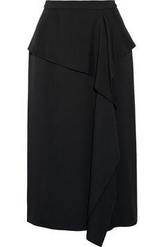 Jason Wu | Draped hammered-silk skirt | NET-A-PORTER.COM