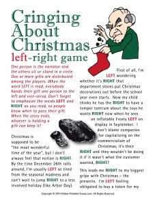 christmad story party | Anti-Christmas party gift exchange game: Cringing About Christmas left ...