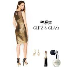 Glam up this #Christmastime #golddress #makeup #christmasparty #fashion #glamorous