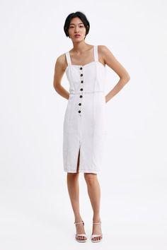 5ff2d997 16 Best Denim Pinafore Dress images   Denim Overalls, Dungarees ...