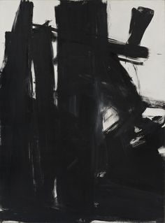 Franz Kline (American, Black Iris, Oil on canvas, x cm. The Museum of Contemporary Art, Los Angeles Action Painting, Acrylic Painting Lessons, Watercolor Paintings Abstract, Abstract Landscape Painting, Landscape Paintings, Watercolor Artists, Painting Art, Abstract Art, Franz Kline