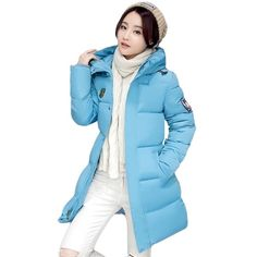 (31.16$)  Watch more here - http://ai2dh.worlditems.win/all/product.php?id=32773457350 - Woman Winter Jacket and Coat 2016 Fashion Cotton Padded Jacket Long Style Hood Slim Parkas Plus Size Thicken Female Outerwear