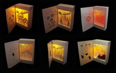 A set of 6 Shadow Box lantern templates 1 x Bells and Town 1 x Santa Surprise 1 x Manger 1 x Shining Star 1 x Snowman 1 x Let it Snow 6 for the price of