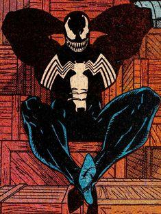 Venom Is Chilling! Venom Comics, Marvel Venom, Marvel Vs, Marvel Dc Comics, Marvel Heroes, Comic Book Characters, Marvel Characters, Comic Character, Comic Books Art