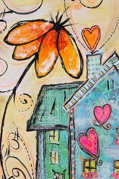My Art Adventures: Art Journal Journey & Inspiration Mosaic Pictures, Bee Art, Art Journal Techniques, Water Art, Art Themes, Artist Trading Cards, Art Journal Inspiration, Art Journal Pages, Whimsical Art