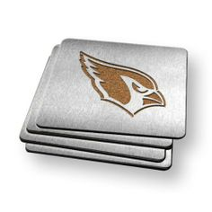 Sportula Products Boasters Stainless Steel Coasters, Arizona Cardinals by Sportula Products. $22.49. Unique laser-cut design. Heavy-duty stainless steel. Strong cork backer. Set of four. Boasters are a set of 4 heavy-duty coasters made from stainless steel and have a strong cork backer. they are the perfect compliment to its sportula counterpart.