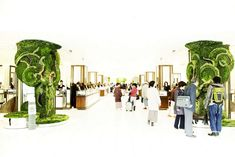 Isetan grand opening collapsible leaves (1)