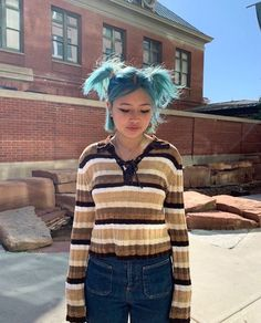 Indie Outfits, Trendy Outfits, Cool Outfits, Teen Girl Outfits, Teen Fashion Outfits, Short Blue Hair, Blake Steven, Asian Makeup, Big Fashion