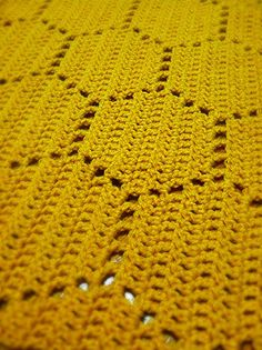 This is a PATTERN for a blanket with a honeycomb pattern. This pattern includes written directions in US terms and a colored diagram (not a crochet