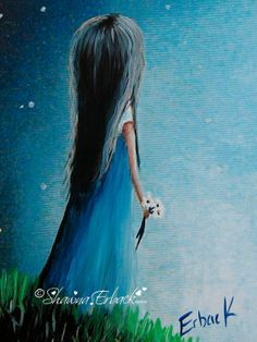 Whimsical Pretty Girl FINE ART PRINT She Remembers From A Distance by Shawna Erback