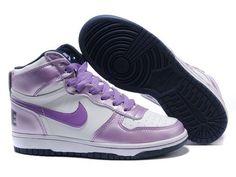 uk availability 2a4ae 2d553 Chaussures Nike Dunk High Blanc bNoir Violet nike11795 - €63.89