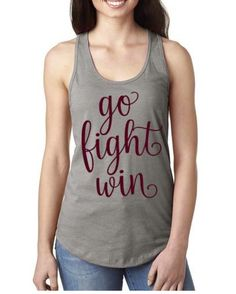 Order this cute gray and maroon tank for football season. $15 plus shipping. Send order to stephstewart @ att.net