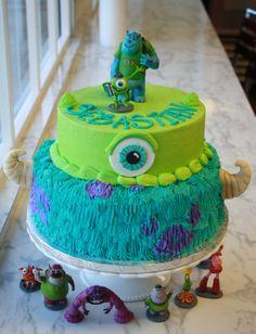 monsters inc cake Monster Inc Birthday, Monster Inc Party, Monster Inc Cakes, Monsters Inc Baby Shower, Birthday Parties, Birthday Ideas, 2nd Birthday, Cute Cakes, Creative Cakes