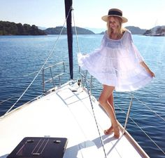 Island hopping in Croatia ⛵️ Croatia, Panama Hat, Travel Photos, Boho Chic, Strapless Dress, Cover Up, Island, Lifestyle, Beach