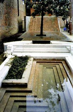 The entrance of the Faculty of Architecture by Carlo Scarpa