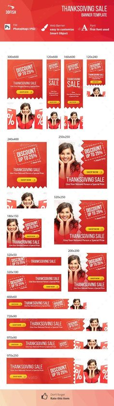 Buy Thanksgiving Sale Banner by on GraphicRiver. Thanksgiving Sale Banner is a web banner templates for sales your product escpecially on thanksgiving events. Web Design, Graphic Design, Fashion Banner, Thanksgiving Sale, Change Image, Advertising, Ads, Sale Banner, Banner Template