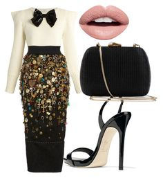 """""""Untitled #140"""" by candyappleblue ❤ liked on Polyvore featuring Yves Saint Laurent, Dolce&Gabbana, Giuseppe Zanotti, Serpui and Nevermind"""