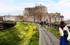 The High Line: this park was a work of brilliance.  It's a 1 1/2 mile park that was built on an abandoned, elevated train track on New York's lower west side.