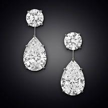 Los pendientes de gota de diamantes