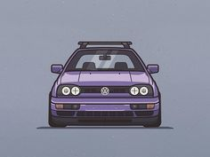 VW Golf designed by Max Panysh. Golf Mk3, Vw Golf 3, Volkswagen New Beetle, Volkswagen Golf, Vw Golf Wallpaper, Cabrio Vw, Wallpaper Carros, Corsa Wind, Low Poly Car