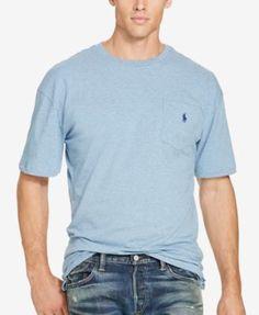 POLO RALPH LAUREN Polo Ralph Lauren Men'S Big &Amp; Tall Jersey Pocket Crew Neck. #poloralphlauren #cloth # big