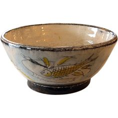 pottery bowls handmade | Handmade and Artist Decorated Pottery Bowl by Henry Varnum Poor at ...