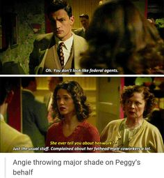 Angie is awesome - Agent Carter Marvel Funny, Marvel Dc Comics, Marvel Heroes, Marvel Avengers, Dc Movies, Marvel Movies, Peggy Carter, Marvel Women, Marvel Characters