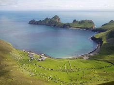Village Bay on the island of Hirta, in the St. Kilda Archipelago off the West coast of Scotland.